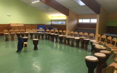 Un projet d'école autour des percussions