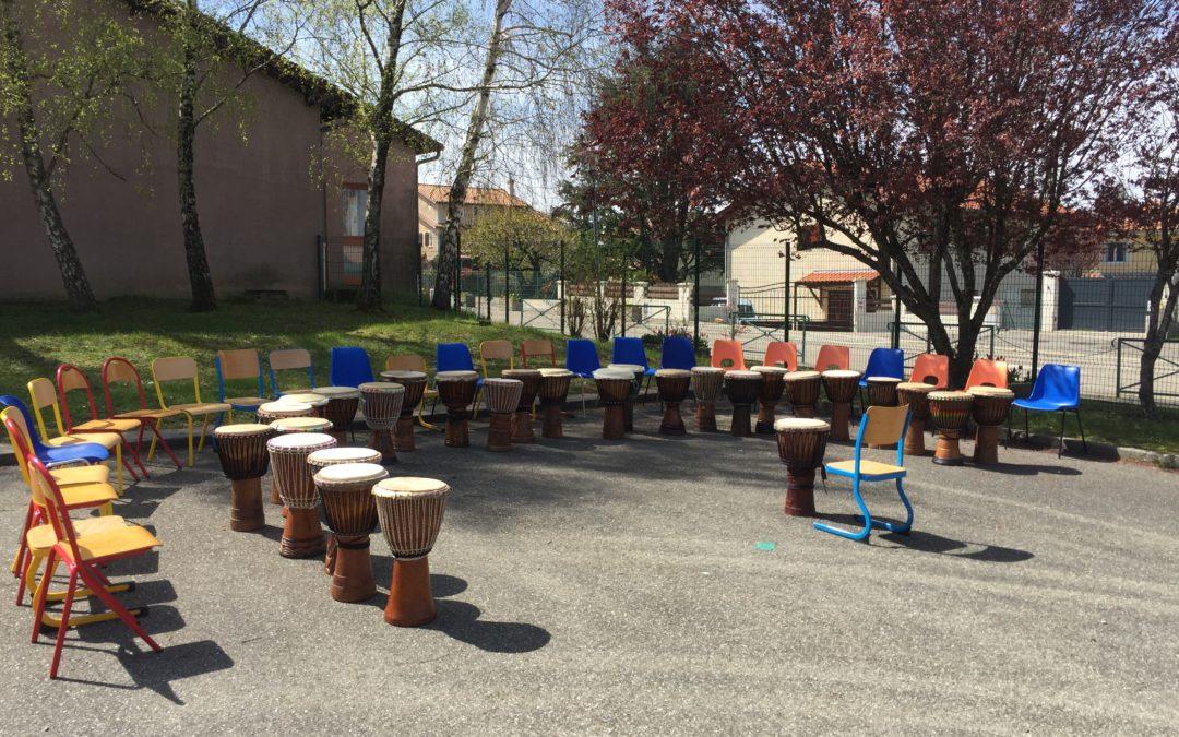 stage de djembé école primaire de Valencin